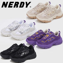 NERDY Casual Style Unisex Street Style Logo Low-Top Sneakers