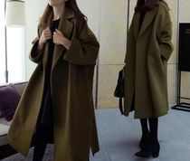 Plain Long Chester Coats