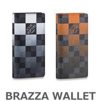 Louis Vuitton BRAZZA Leather Long Wallets