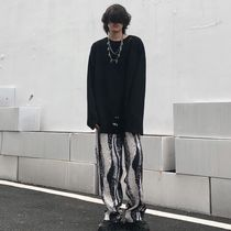 Printed Pants Street Style Oversized Patterned Pants