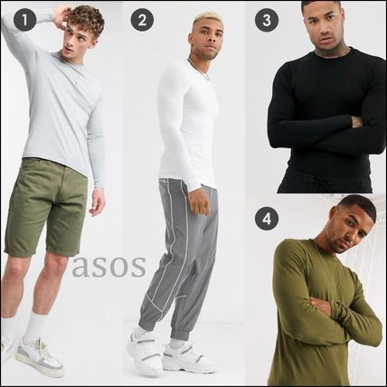 ASOS Long Sleeve Crew Neck Pullovers Street Style Long Sleeves Plain Cotton