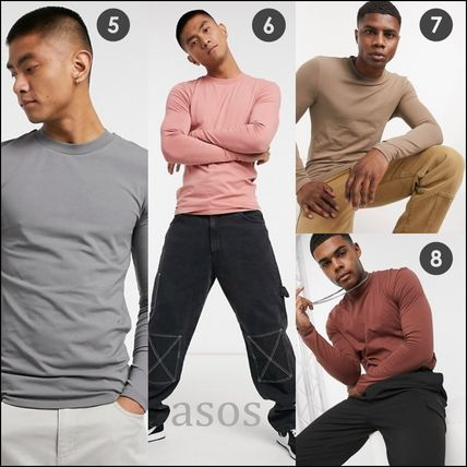 ASOS Long Sleeve Crew Neck Pullovers Street Style Long Sleeves Plain Cotton 2