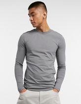 ASOS Long Sleeve Crew Neck Pullovers Street Style Long Sleeves Plain Cotton 11