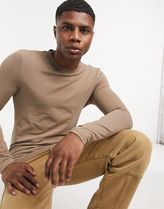 ASOS Long Sleeve Crew Neck Pullovers Street Style Long Sleeves Plain Cotton 15