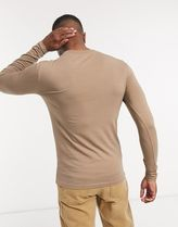ASOS Long Sleeve Crew Neck Pullovers Street Style Long Sleeves Plain Cotton 16
