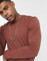 ASOS Long Sleeve Crew Neck Pullovers Street Style Long Sleeves Plain Cotton 17