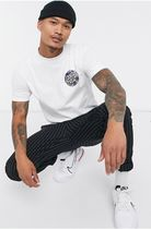 MAUVAIS Slax Pants Tapered Pants Stripes Unisex Street Style Cotton
