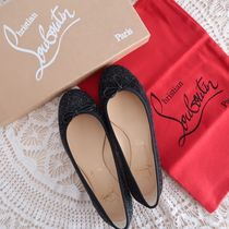Christian Louboutin Round Toe Casual Style Street Style Leather Office Style