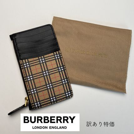 Burberry Unisex Leather Card Holders