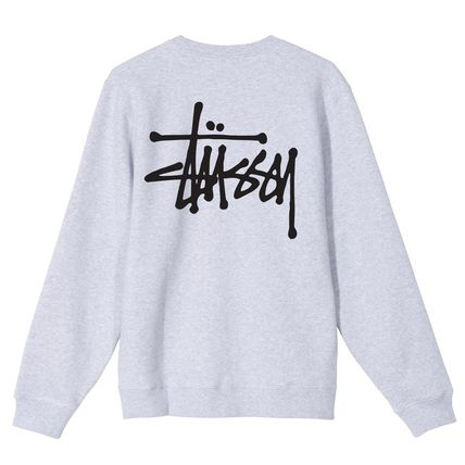 STUSSY Crew Neck Pullovers Unisex Sweat Street Style Long Sleeves