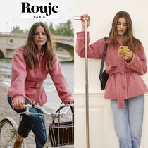 Rouje Casual Style Medium Office Style Formal Style  Logo Peacoats