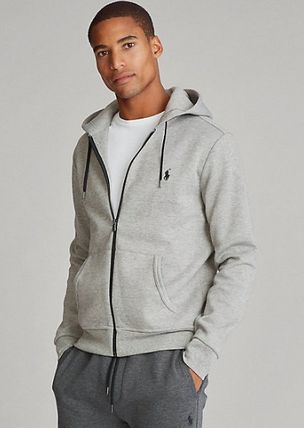 Ralph Lauren Long Sleeves Plain Cotton Logo Surf Style Hoodies