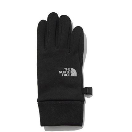 THE NORTH FACE WHITE LABEL Logo Unisex Plain Touchscreen Gloves