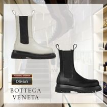 BOTTEGA VENETA Platform Round Toe Rubber Sole Casual Style Bi-color Plain