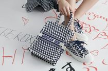 Christian Dior BOOK TOTE Dots Casual Style Elegant Style Logo Handbags