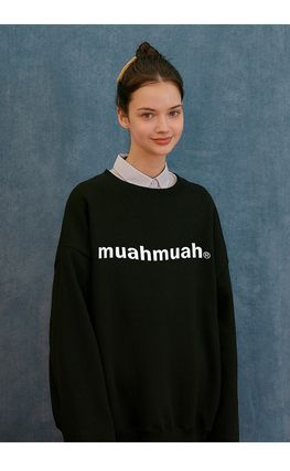 muahmuah Plain Cotton Logo Hoodies & Sweatshirts