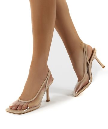 Square Toe Pin Heels Party Style Elegant Style Formal Style