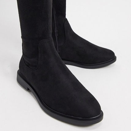 ASOS Casual Style Suede Street Style Over-the-Knee Boots