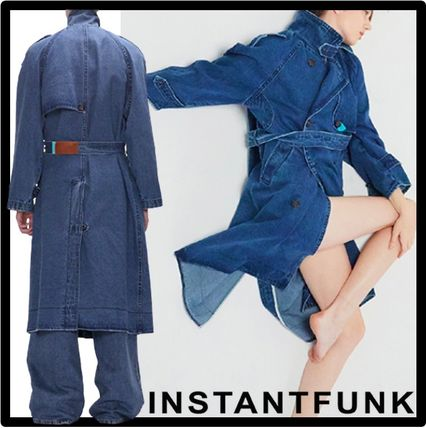Casual Style Unisex Street Style Trench Coats