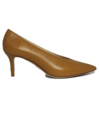 Plain Leather Pointed Toe Pumps & Mules