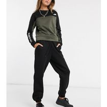 THE NORTH FACE Crew Neck Sweat Street Style Bi-color Long Sleeves Plain