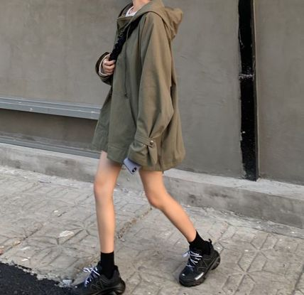 Short Casual Style Plain Outerwear