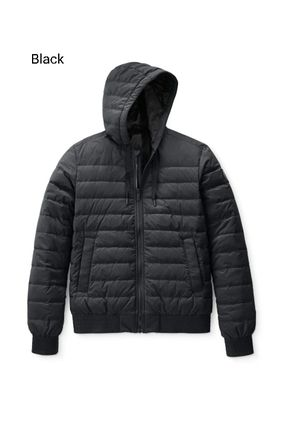 Short Plain Logo Down Jackets