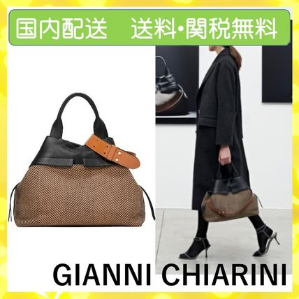 Casual Style 2WAY Leather Office Style Elegant Style
