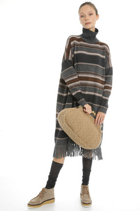 Casual Style Wool Office Style Elegant Style Dresses