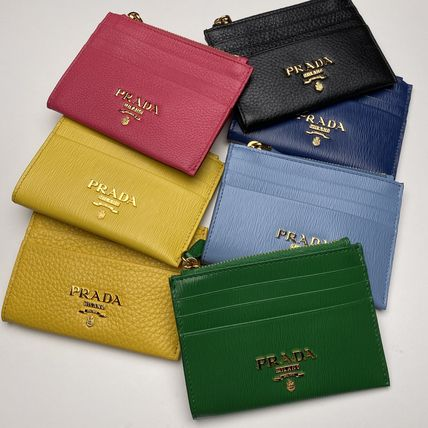 PRADA Leather Logo Card Holders