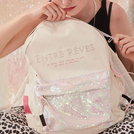 Casual Style Faux Fur Vanity Bags Plain Logo Clear Flame