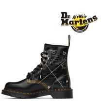 Dr Martens 1460 Platform Mountain Boots Round Toe Rubber Sole Casual Style