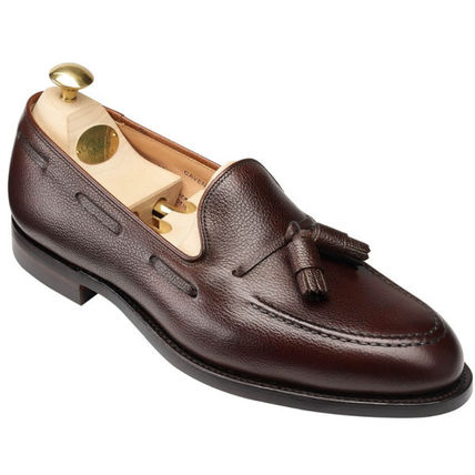Loafers Tassel Street Style Plain Leather Loafers & Slip-ons