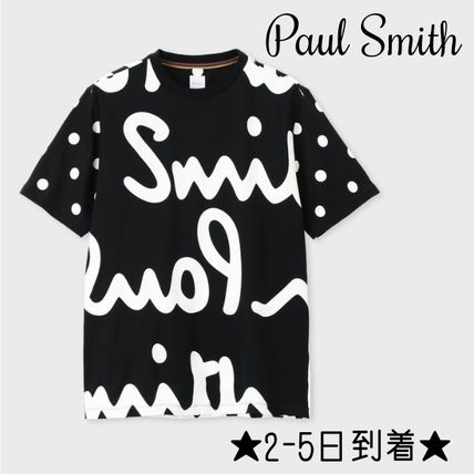 Paul Smith Crew Neck Crew Neck Pullovers Dots Street Style Cotton Short Sleeves