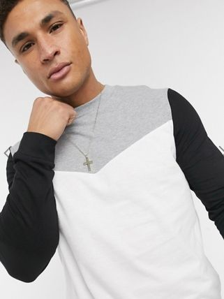 ASOS Long Sleeve T-shirt Crew Neck Pullovers Long Sleeves Cotton