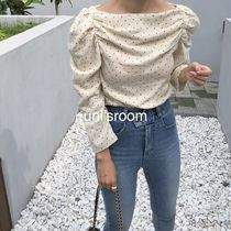 Dots Casual Style Cropped Plain Cotton Medium Office Style