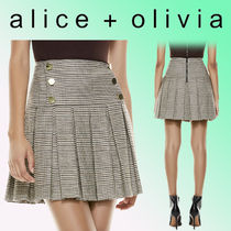 Alice+Olivia Short Other Plaid Patterns Wool Blended Fabrics