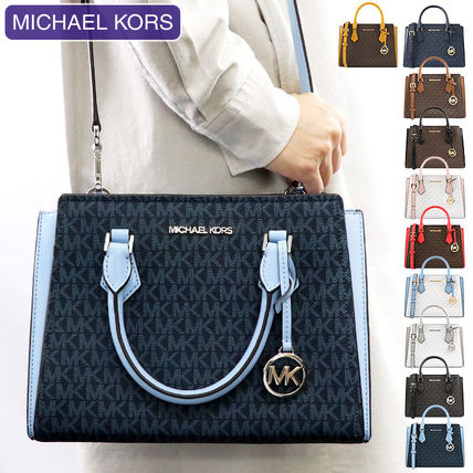 Michael Kors 2WAY Leather Crossbody Logo Handbags