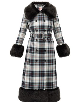Tartan Casual Style Long Office Style Elegant Style Coats