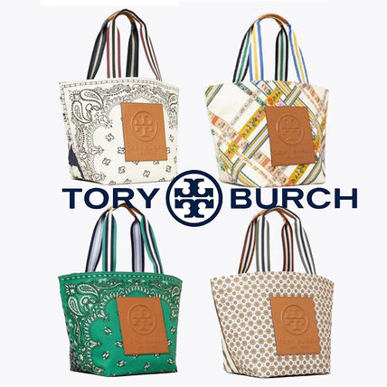 Tory Burch Argile Stripes Flower Patterns Dots Casual Style Unisex A4
