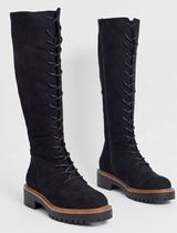 ASOS Casual Style Suede Plain Over-the-Knee Boots
