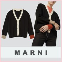 MARNI Cable Knit Casual Style Cashmere Street Style Long Sleeves