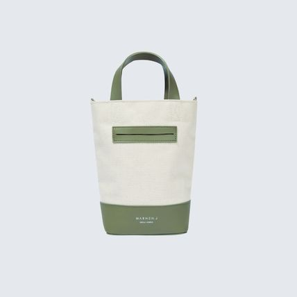 Casual Style Unisex Street Style Logo Totes