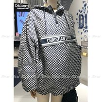 Christian Dior Dots Casual Style Elegant Style Logo Outerwear