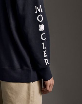 MONCLER Hoodies Collaboration Long Sleeves Plain Cotton Logos on the Sleeves 11