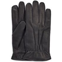 UGG Australia Street Style Plain Leather Leather & Faux Leather Gloves