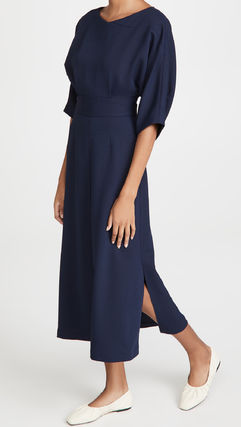 Casual Style Plain Formal Style  Dresses