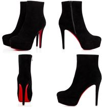 Christian Louboutin Casual Style Suede Plain Pin Heels Handmade Party Style