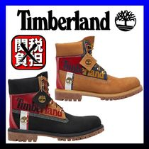 Timberland Mountain Boots Plain Leather Logo Outdoor Boots