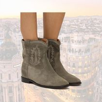 Isabel Marant Wedge Suede Leather Office Style Elegant Style Formal Style